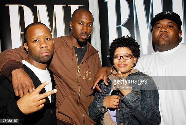 The Clutch Production members JQue Zeke Lewis Candice Nelson and Balewa Muhammad attend BMI's PreGrammy Party at the Mondrian Hotel February 09 2007...