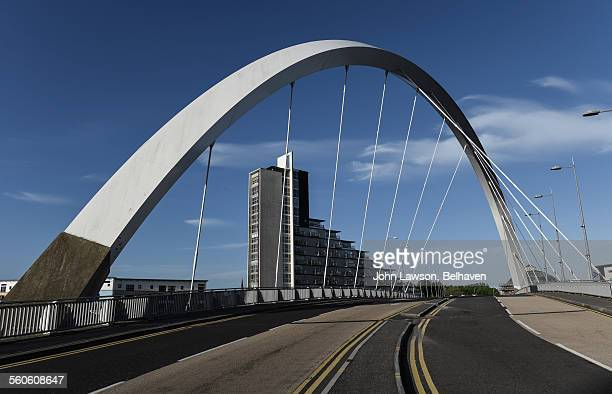 The Clyde Arc or Squinty Bridge, Glasgow, Scotland