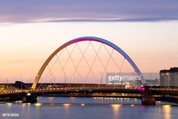 The Clyde Arc, Sunrise, Clyde River, Glasgow, Scotland