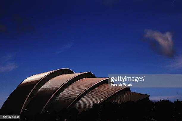 The Clyde Auditorium is seen ahead of the Commonwealth Games on July 21, 2014 in Glasgow, Scotland.