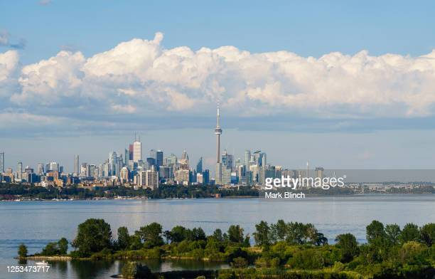 June 29: The CN Tower and skyline is seen on June 29, 2020 in Toronto, Canada.