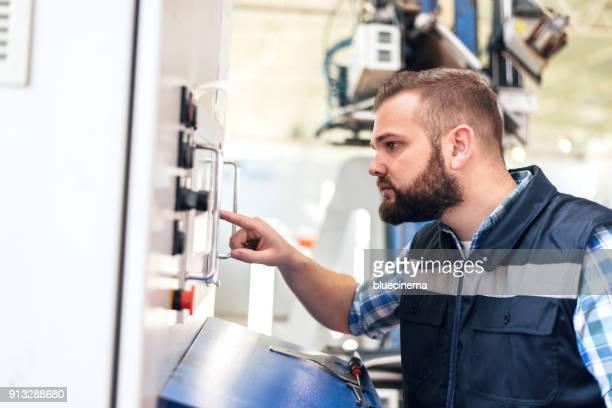 Die CNC-Maschine Operator Handpresse Controller-Feld