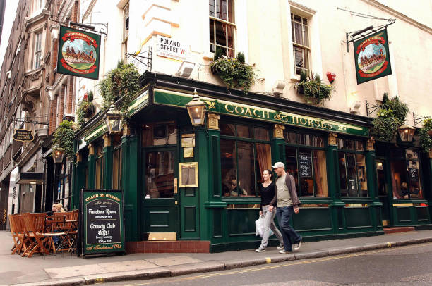 The Coach Horses Pub At Junction Of Poland Street And Great Marlborough In
