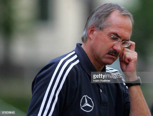 The coach of Germany Uli Stielike during the men's Under 20 friendly match between Germany and Austria at the Stadium Mullerwiese on May 16 2006 in...