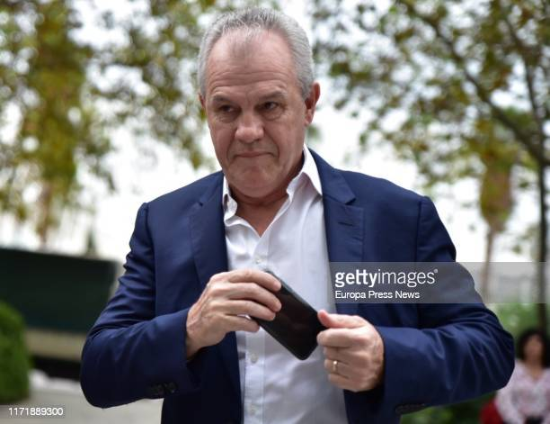 The coach of the Real Zaragoza Javier Aguirre is seen arriving to the Justice City in Valencia at the first day of the trial for the alleged rigging...