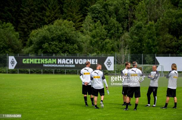 The Coaches are seen during the Borussia Moenchengladbach Training Camp on July 14, 2019 in Rottach-Egern, Germany.