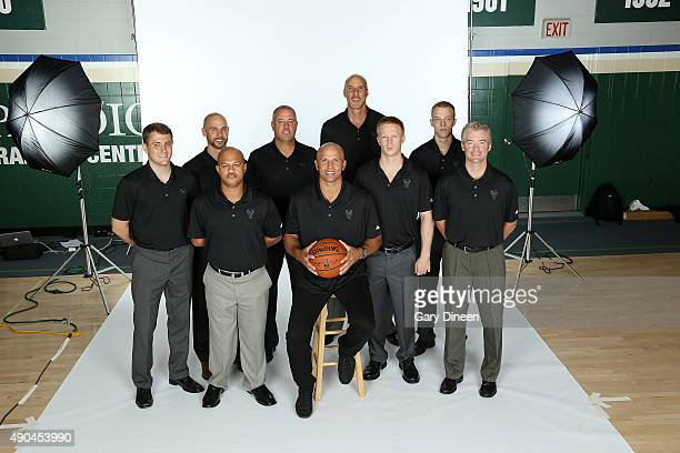 The coaching staff of the Milwaukee Bucks poses for a portrait during Media Day on September 28 2015 at the Orthopaedic Hospital of Wisconsin...