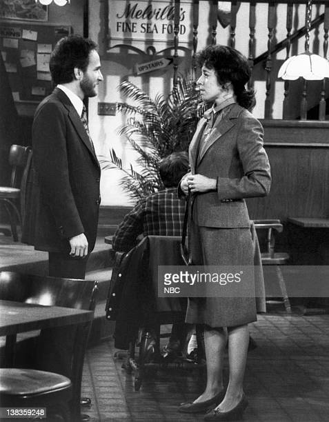 CHEERS 'The Coach's Daughter' Episode 5 Pictured Philip Charles MacKenzie as Roy Allyce Beasley as Lisa Pantusso
