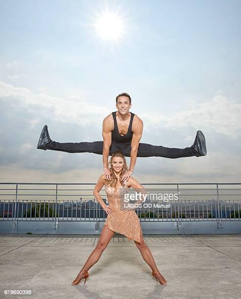 the coachs of the TV Show Danse avec les Stars with Gregoire Lyonnet and Denitsa Ikonomova pose for Paris Match on september 23 2016 in Paris France