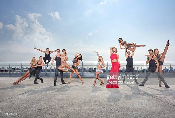 the coachs of the TV Show Danse avec les Stars with Katrina Parchett Maxime Dereymez Gregoire Lyonnet Christian Millette Denitsa Ikonomova Candice...