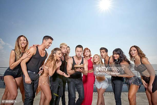 the coachs of the TV Show Danse avec les Stars with Silva Notargiacomo Maxime Dereymez Denitsa Ikonomova YannAlrick Morteuil Gregoire Lyonnet...