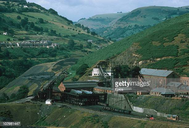 The coal mining colliery and housing in the Markham countryside Sheffield September 1969
