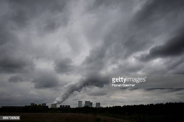 The coalfired power station is captured on August 12 2016 in Boxberg Germany