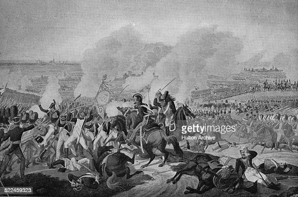 The coalition armies of Russia Prussia Austria and Sweden led by the Russian Tsar Alexander I and Austrian Field marshal Charles Philip Prince of...
