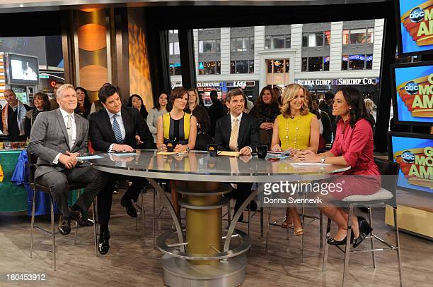 AMERICA The coanchors report live on Good Morning America 1/31/13 airing on the Walt Disney Television via Getty Images Television Network SAM
