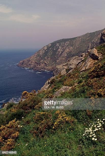 The coast along Cape Finisterre, Costa da Morte, Galicia, Spain.