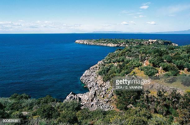 The coast around Kardamyli Peloponnese Greece