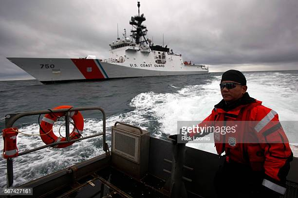 BARROW ALASKA –– SEPTEMBER 1 2012 –– The Coast Guards first national security cutter the USCGC Bertholf has been plying the shallow Arctic seas where...
