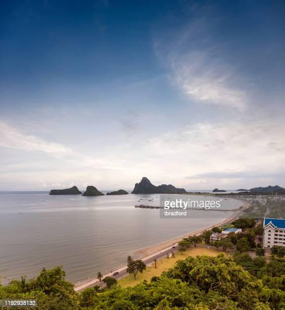 the coast in prachuap khiri khan, thailand - prachuap khiri khan province stock pictures, royalty-free photos & images