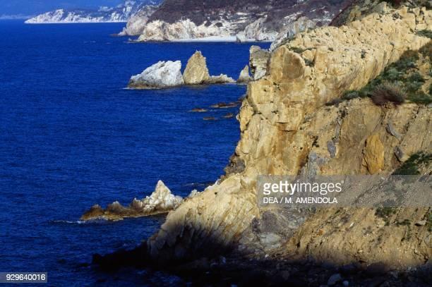 The coast near Cape Enfola Elba island Tuscan Archipelago National Park Tuscany Italy