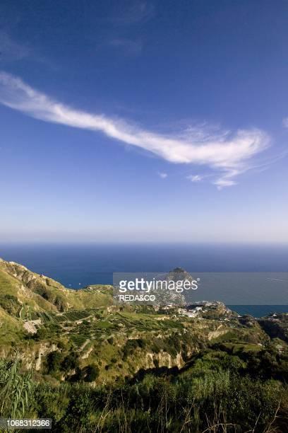 The coast near the village SantAngelo Ischia Naples Campania Italy