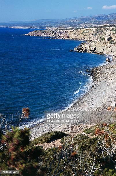 The coast of Akamas Peninsula, north of Paphos, Cyprus.