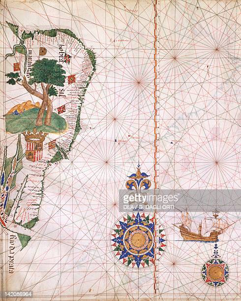 The coast of Brazil from the Lazaro Luis atlas 1563 Plate