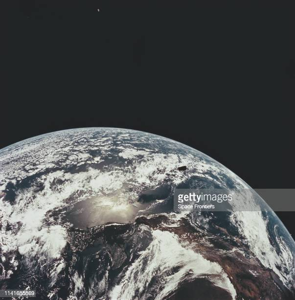 The coast of Mexico and the Pacific Ocean as seen from space as the spacecraft leaves Earth's orbit on NASA's Apollo 12 lunar landing mission 14th...
