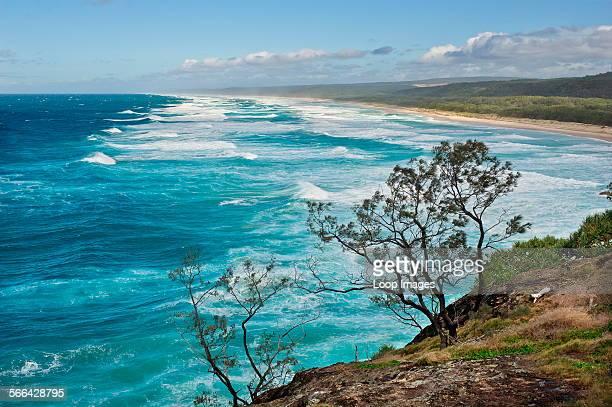 The coast of North Stradbroke Island in Queensland