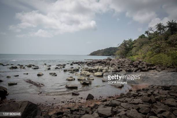 The coast of Sierra Leone's Banana Islands. The Banana Islands were once a slave trading port. They are now home to a few hundred people. The Banana...