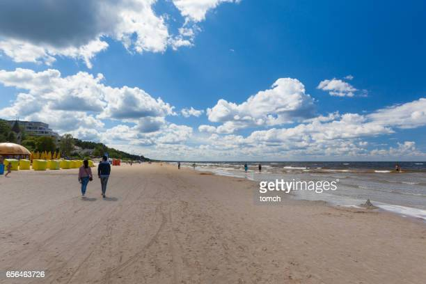Die Küste des Golfs von Riga, Jurmala, Lettland