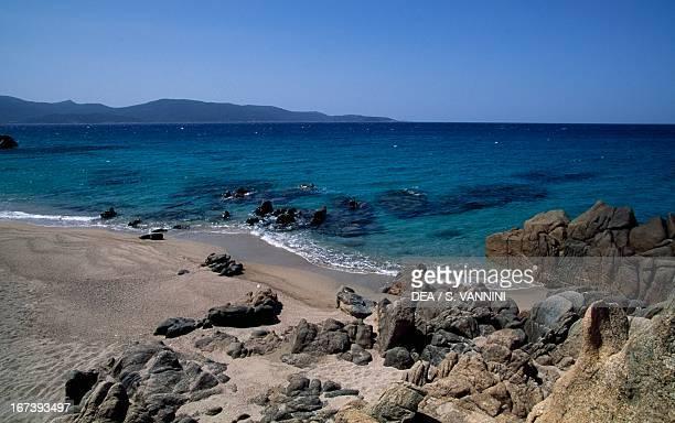 The coast of the Gulf of Valinco Porto Pollo Corsica France