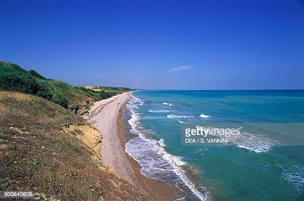 The coast of Vasto at Punta Aderci Regional Nature Reserve Abruzzo Italy