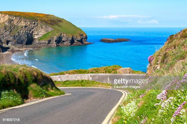 The Coast Road At Portreath In Cornwall England Uk