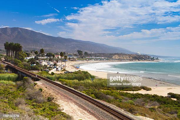 the coastal beaches of san clemente - san clemente california stock pictures, royalty-free photos & images