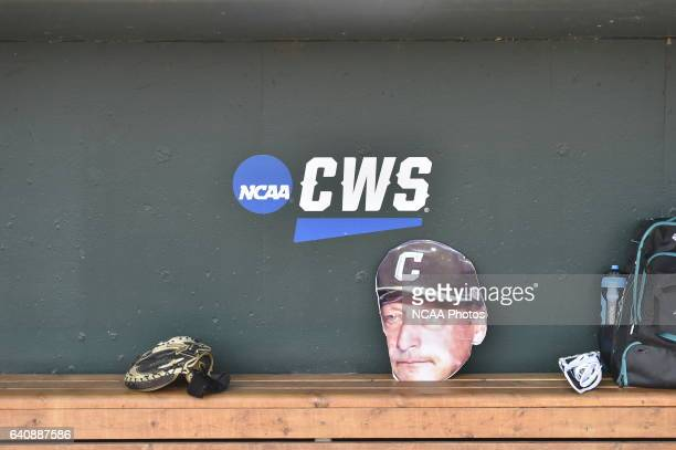 The Coastal Carolina Chanticleers warm up before taking on University of Arizona during Game 3 of the 2016 NCAA Men's College World Series held at TD...