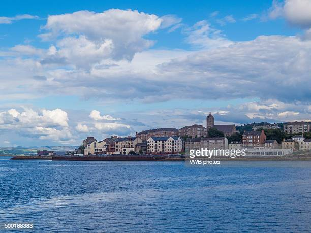 the coastal town of gourock - argyll and bute stock photos and pictures