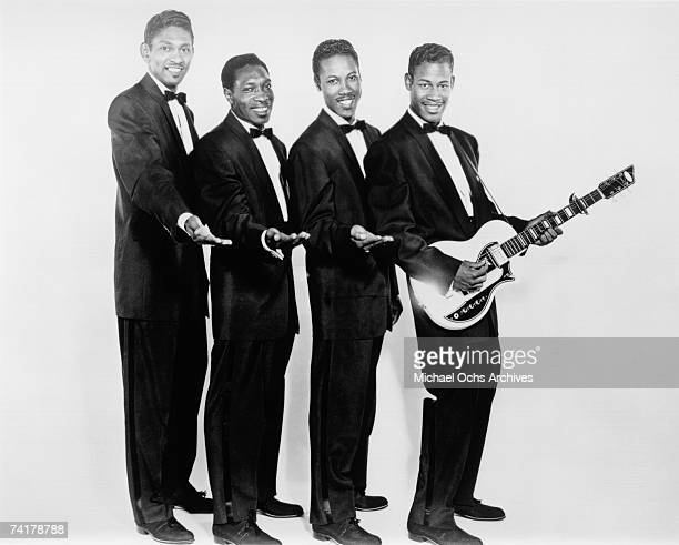 The Coasters pose for a studio photo in 1956 in Los Angeles California