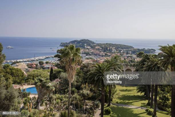 The coastline and Mediterranean Sea are seen beyond the private gardens of the Villa Les Cedres a 187yearold000squarefoot 14bedroom mansion set on 35...