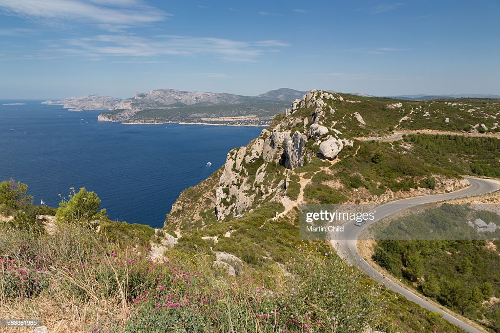 The coastline near Cassis : Stock Photo