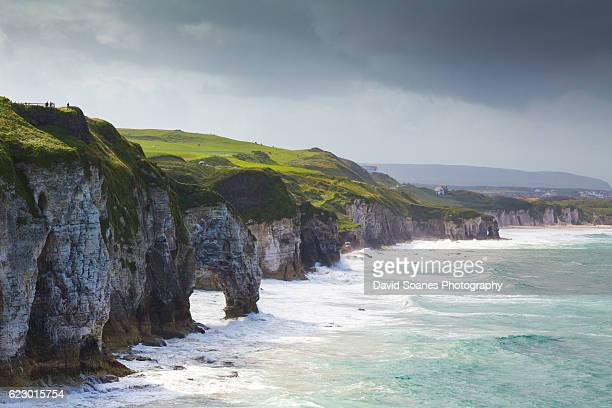 the coastline of antrim, northern ireland - county antrim stock pictures, royalty-free photos & images