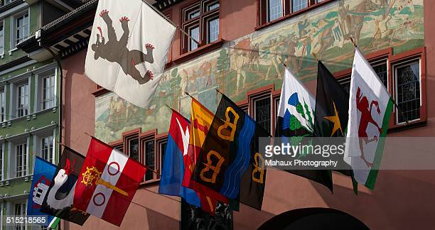 The coat of arms of Appenzell at the Town Hall