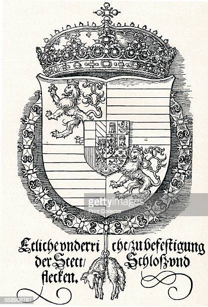 'The Coat of Arms of Ferdinand I King of Hungary and Bohemia' 1527 From Durer Des Meisters Gemalde Kupferstiche und Holzschnitte in 471 Abbildungen...