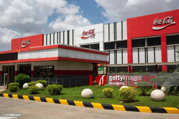 The CocaCola Co logo is displayed at the CocaCola Cambodia Bottling Plant operated by Cambodia Beverage Co which is a subsidiary of CocaCola in Phnom...