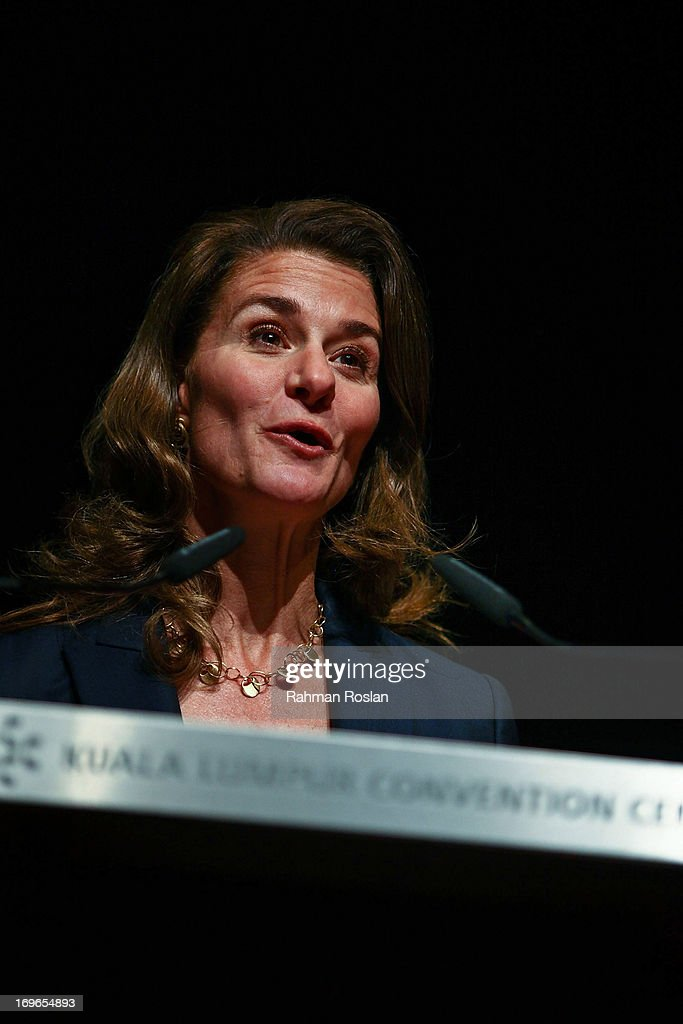 The Co-Chair of Bill & Melinda Gates Foundation, Melinda Gates delivers her speech during the final day of The Women Deliver Conference on May 30, 2013 in Kuala Lumpur, Malaysia. The WD conference brings together voices from around the world to call for action to improve the health and well-being of girls and women. The WD Conference builds on commitments, partnerships, and networks mobilized at the groundbreaking Women Deliver conferences in 2007 and 2010, fighting to end the deluge of preventable deaths that kill approximately 287,000 girls and women from pregnancy-related causes every year.