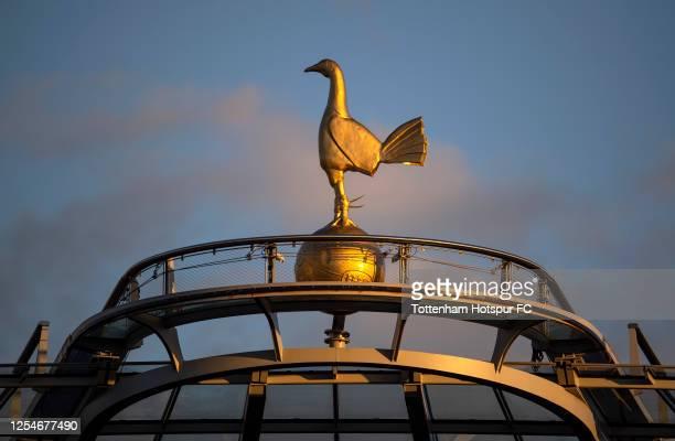 The cockerel at Tottenham Hotspur Stadium during the Premier League match between Tottenham Hotspur and Everton FC at Tottenham Hotspur Stadium on...
