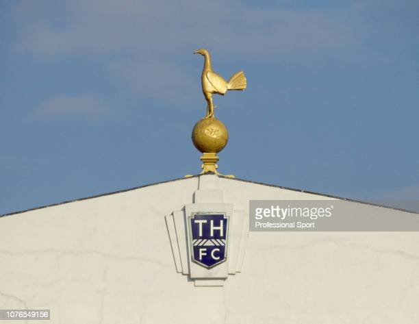 The cockerel on top of the East Stand at White Hart Lane the home of Tottenham Hotspur Football Club in London England circa 1985