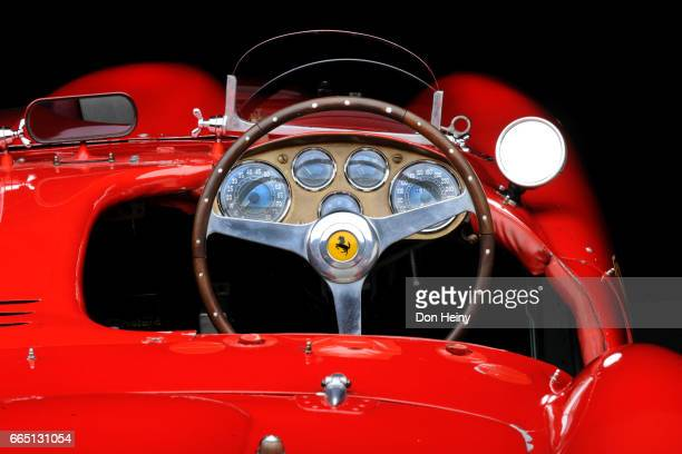 the cockpit of a ferrari 375 mm (mille miglia) - ferrari stock pictures, royalty-free photos & images