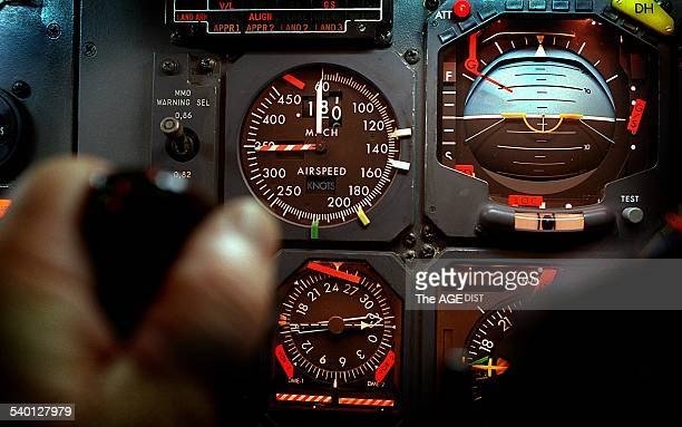The cockpit of an Airbus A320 20 August 1998 THE AGE Picture by JOHN WOUDSTRA