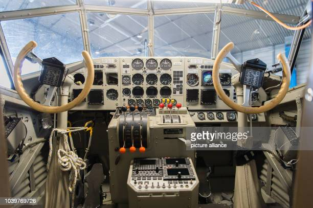 The cockpit of the Junker Ju 52 in a hall on the grounds of LufthansaTechnik in Hamburg Germany 6 April 2016 The plane is currently being inspected...